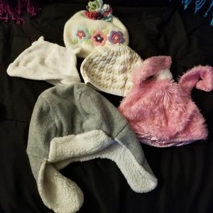 Lot of 5 adorable hats for a girl